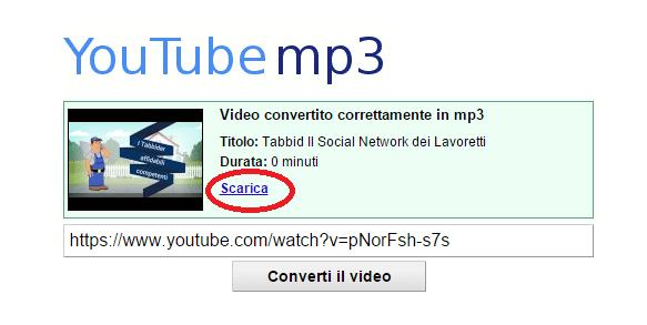 Download della musica